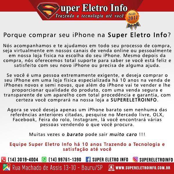 Porque comprar seu iPhone na Super Eletro Info?